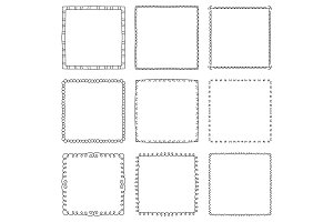 Hand drawn square frames №1