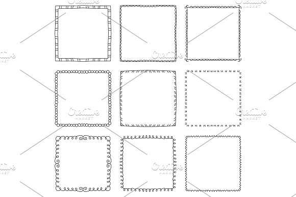 Hand Drawn Square Frames Ўн1
