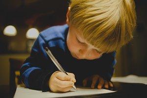 Child Writing Practice