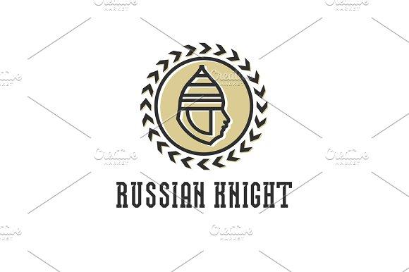 Knight head, armor helmet vector illustration face