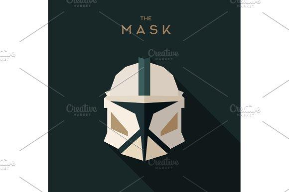Mask villain into flat style vector graphics art