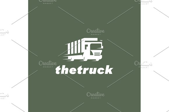 Truck Vector Sign For The Trend Of Transport And Delivery