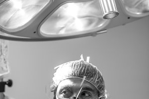 surgeon in the operation room