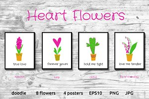 HEART FLOWERS collection