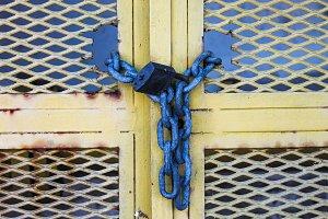 Padlock Iron Gate