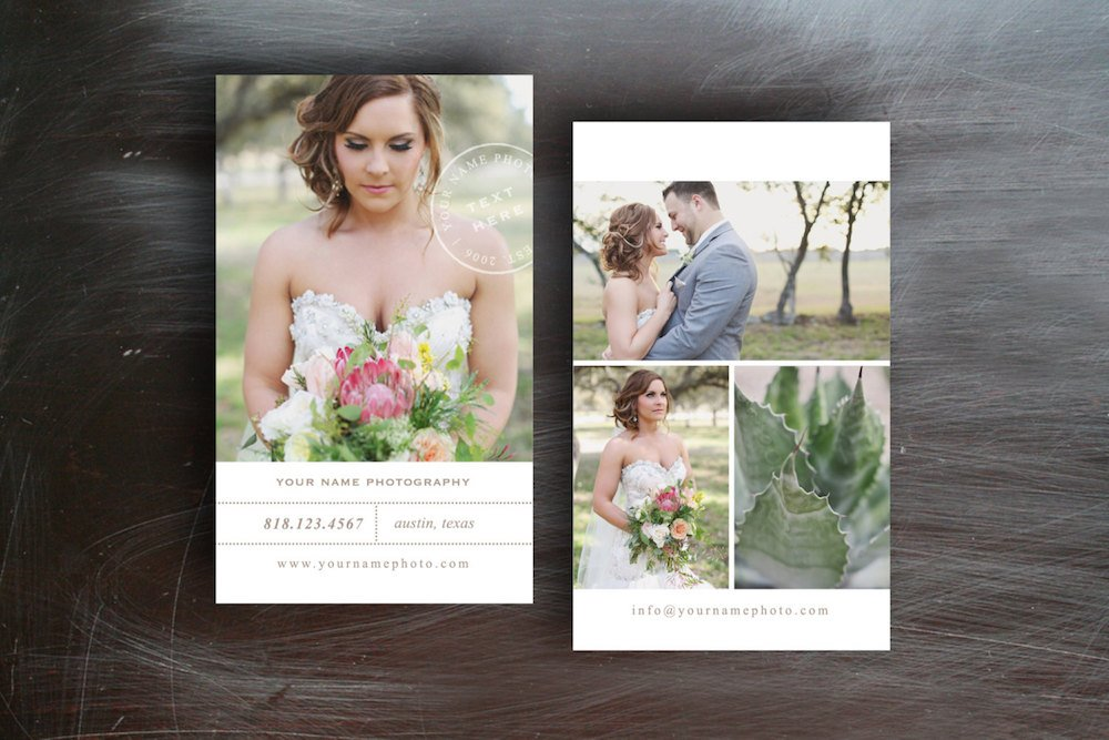 Wedding Photography Business Card Business Card Templates - Wedding business card template