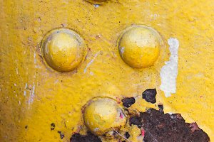 Rusted Surface in Yellow