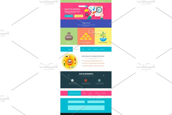Website page template. Web design - Graphics