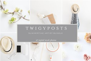 Summertime Artist Stock Photo Bundle