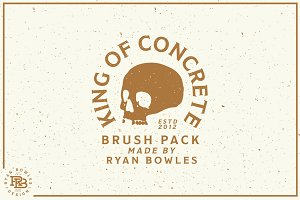 Concrete Texture Brush Pack