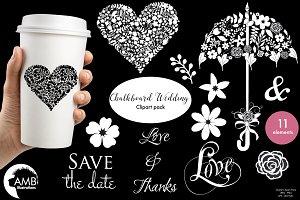 Chalkboard Wedding Clipart 1242