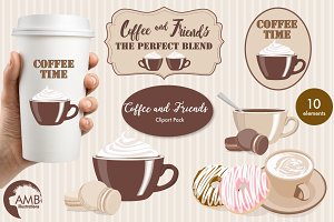 Coffee and Friends clipart AMB-1566