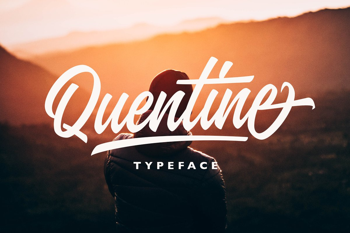 Quentine ~ Script Fonts ~ Creative Market