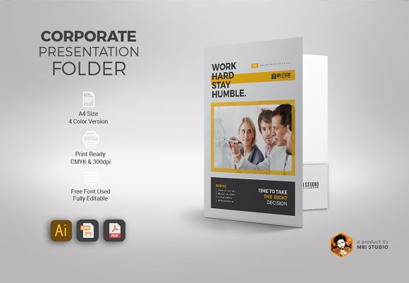 Corporate Presentation Fold-Graphicriver中文最全的素材分享平台