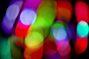 Vibrant lights.Colorful bokeh.