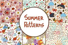 Set of seamless floral patterns ♥