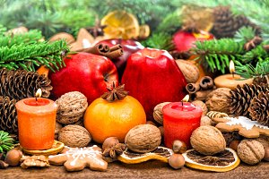 Christmas Decoration With Fruits
