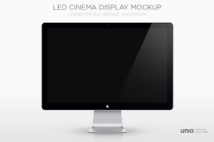Led Cinema Display Mockup