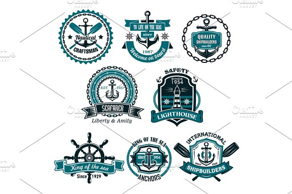 Vector Set Of Nautical And Marine Icons