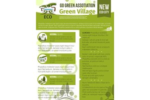 Vector poster for green garden association