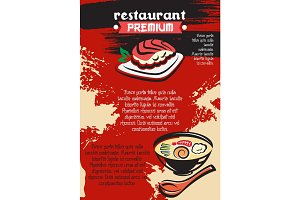 Vector menu for premium Japanese sushi restaurant