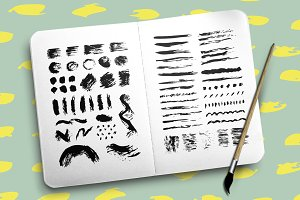 61 vector stroke brushes