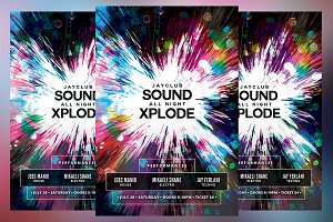 Sound All Night Xplode Flyer