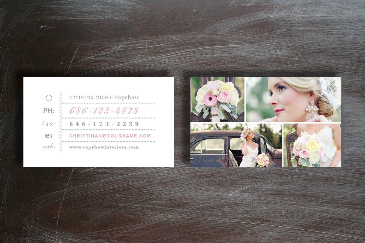Photographer business cards business card templates creative market reheart
