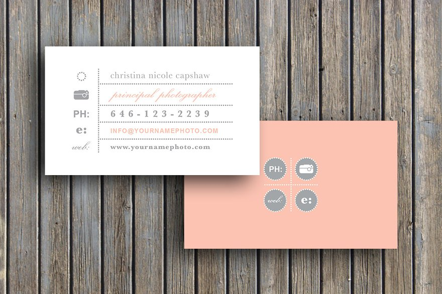 Photography business card 14 business card templates creative vintage business card template reheart Choice Image