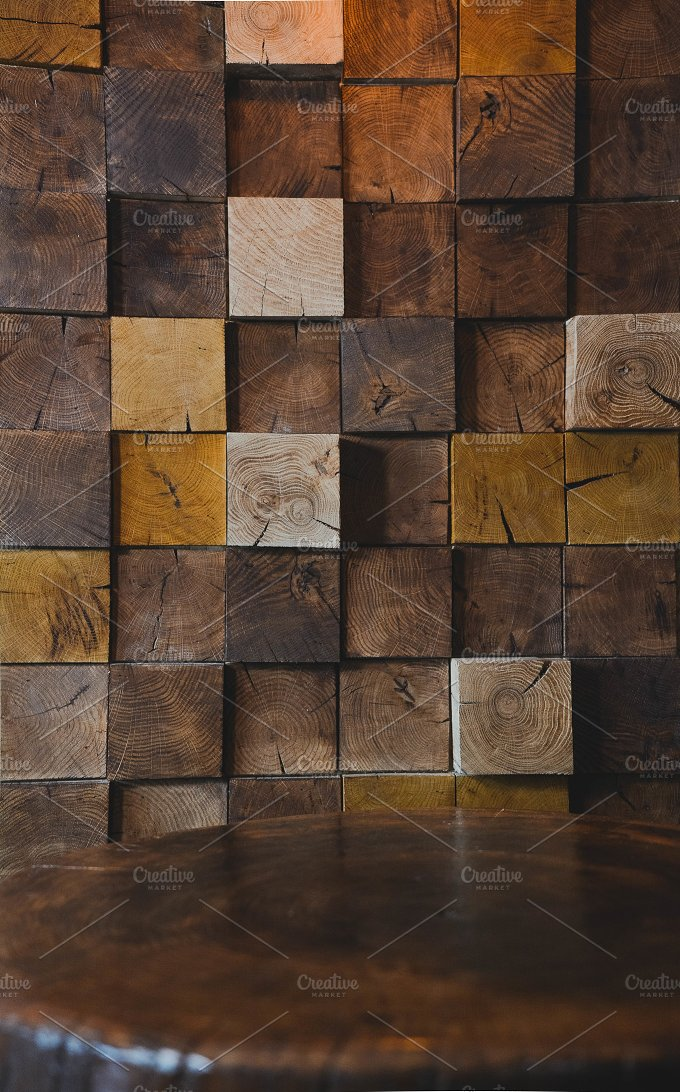 Modern Wood Texture On Wall In Cafe Architecture Photos