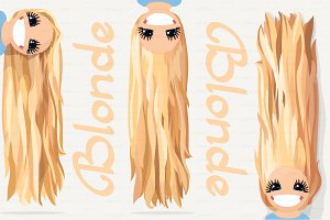 ♥ vector Girl graphics. Blonde