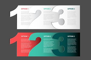 Three Steps / Options template