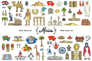 Vector set on the theme of Africa