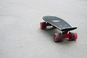 Black plastic skateboard