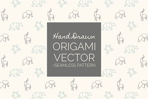 Hand Drawn Origami Vector