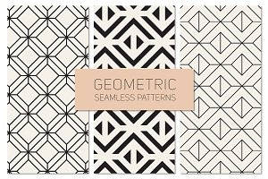 Geometric Seamless Patterns Set 18