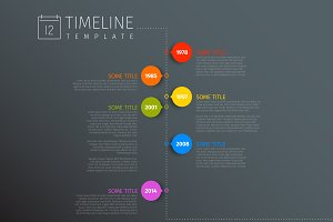 Dark Timeline Template