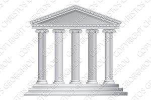Greek or Roman Temple Columns
