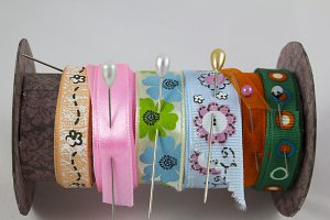 Sewing ribbons
