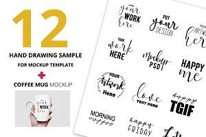 12 Hand Draw Sample for Mockup