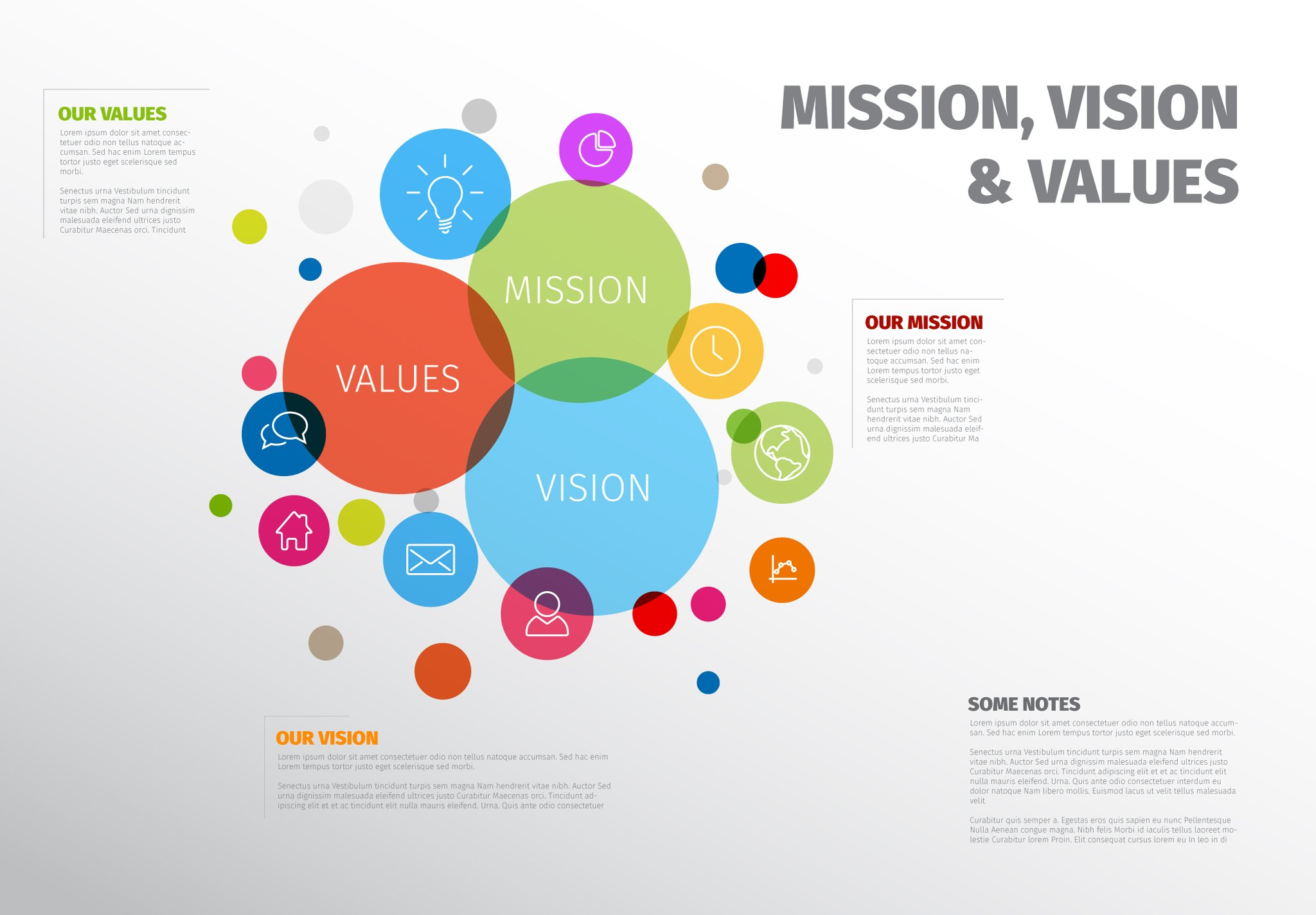 Mission vision and values template presentation for Values statement template
