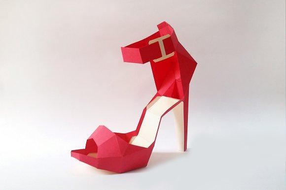 high heel shoe template craft - diy high heel belly 3d papercrafts templates