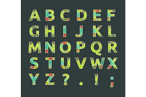 Creative spectral alphabet