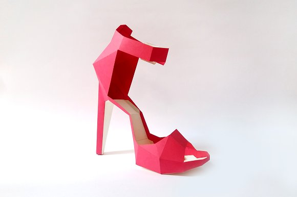 DIY High heel Belly - 3d papercrafts in Templates - product preview 1