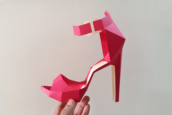 DIY High heel Belly - 3d papercrafts in Templates - product preview 2