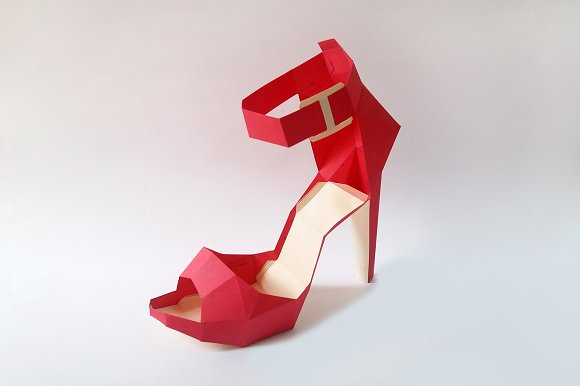 DIY High heel Belly - 3d papercrafts in Templates - product preview 3