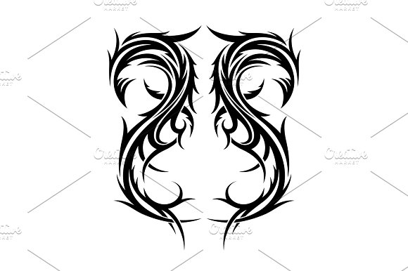 Abstract Hand Drawn Tribal Tattoo Design