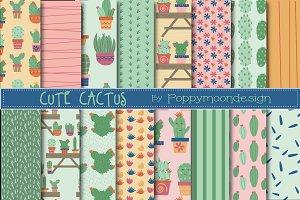 Cute cactus paper