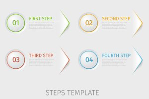 Four steps prorgess template