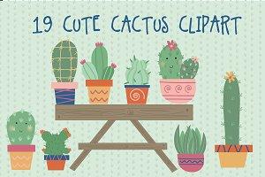Cute cactus clipart